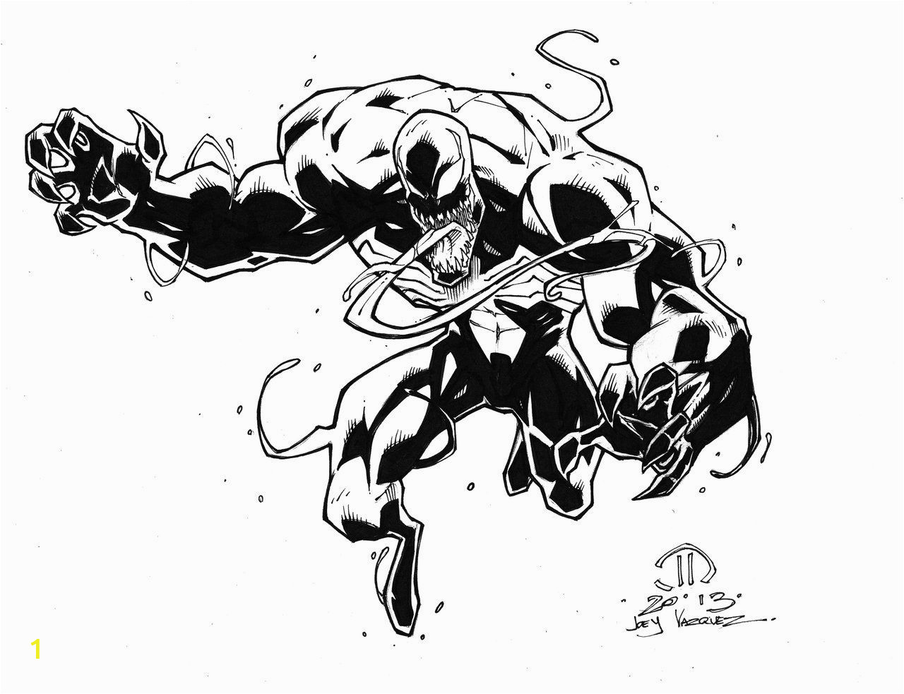 Coloring Pages Of Spiderman and Venom Venom Inked Up by Joeyvazquezviantart On Deviantart