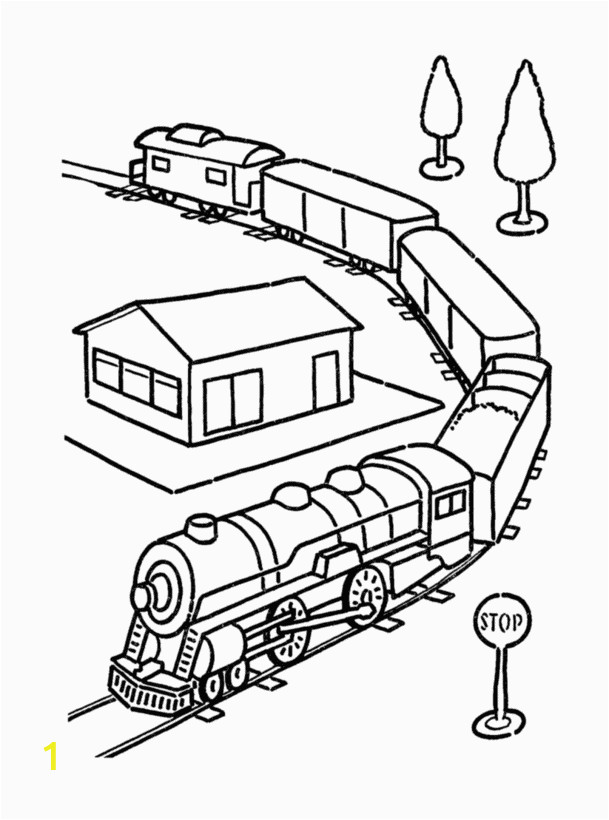 train coloring pages 13