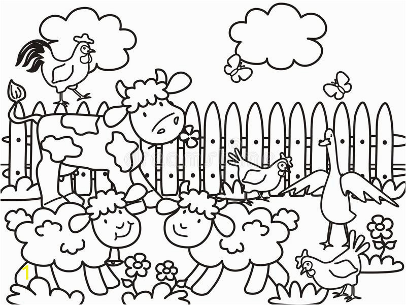 farm coloring books children life animals meadow