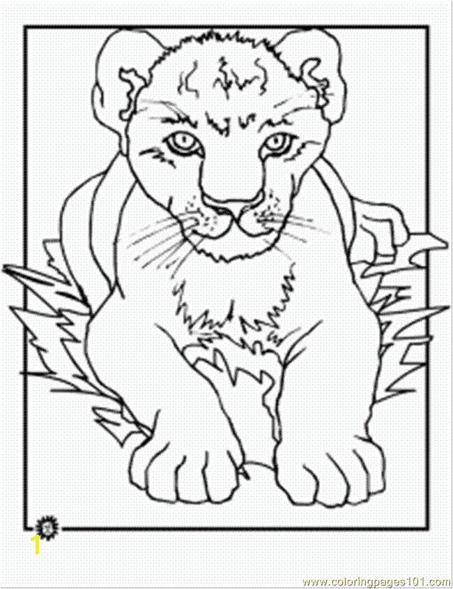 7417 lion cub coloring page
