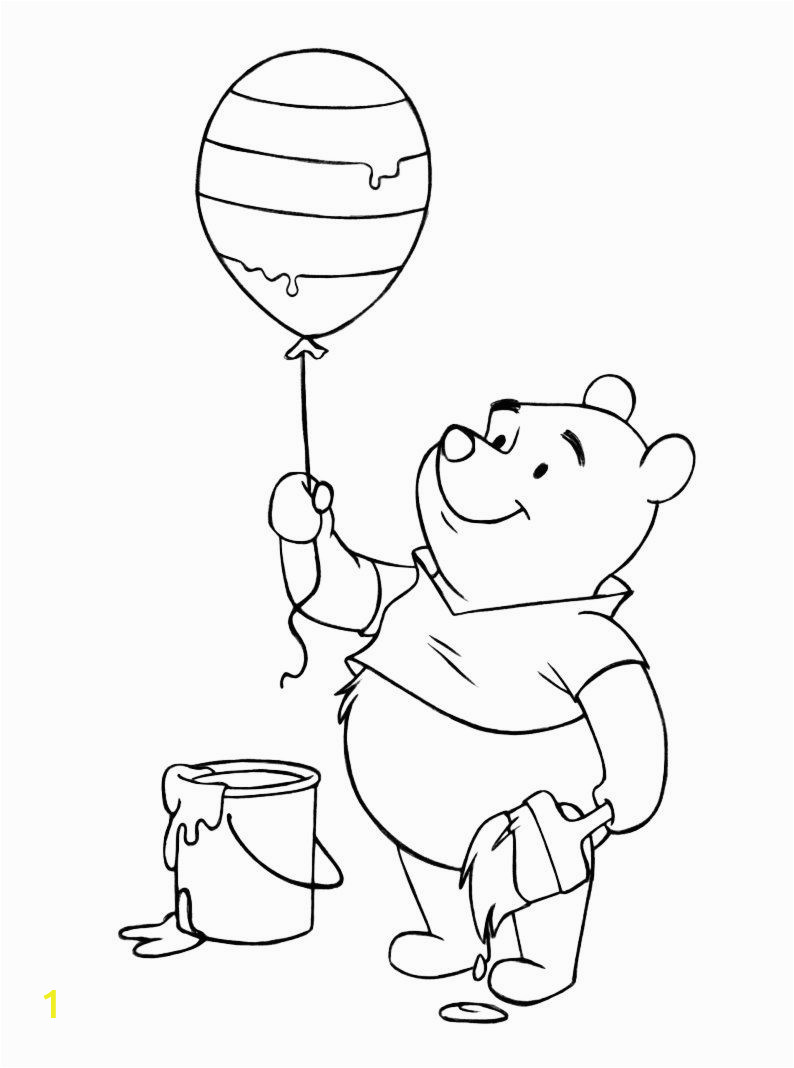 Coloring Pages Printable Winnie the Pooh Winnie the Pooh Coloring Pages