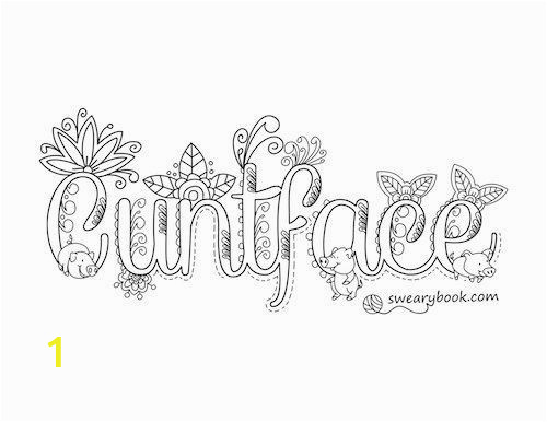 Coloring Pages Swear Words Printable Swear Word Printable Adult Coloring Pages
