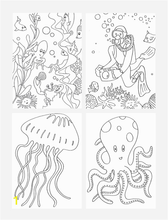 mrprintables free under the sea coloring pages