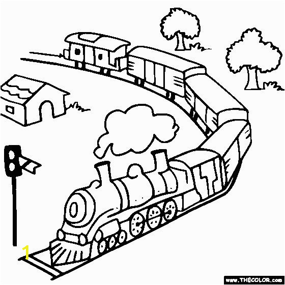 Coloring Picture Of Train Engine 100 Ideas Christmas Train Coloring Pages Printable On