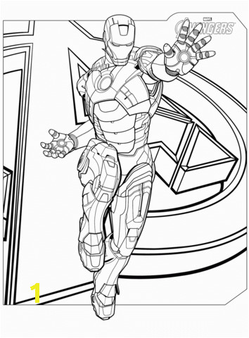 avengers iron man superhero coloring page