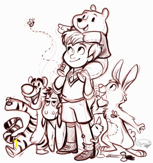 Disney Christopher Robin Coloring Pages Christopher Robin with some Of His Friends