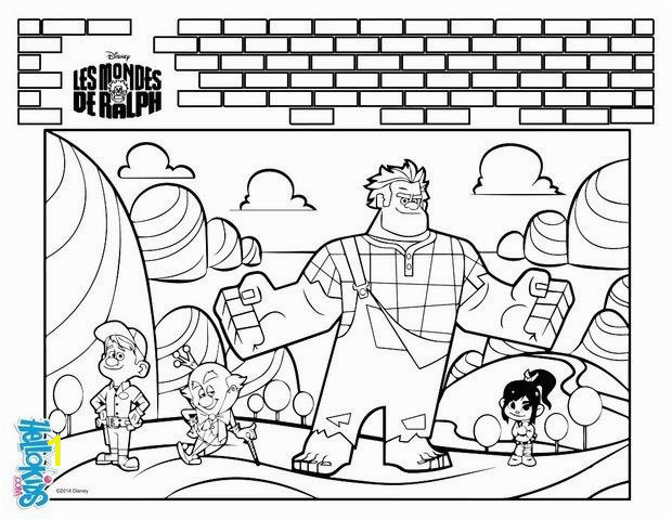 wreck it ralph coloring page ptr