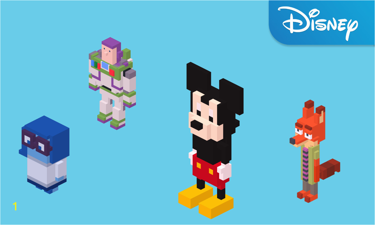 Disney Crossy Road Coloring Pages Disney Crossy Road Apps