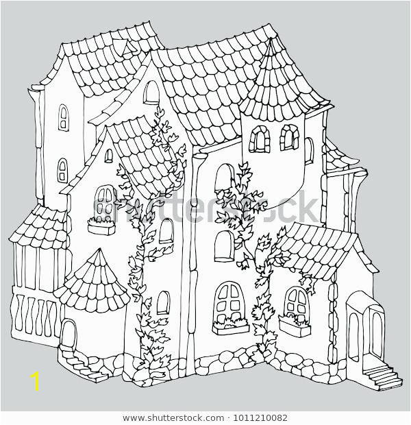 mansion coloring pages luigis haunted fairy tale ancient stone house