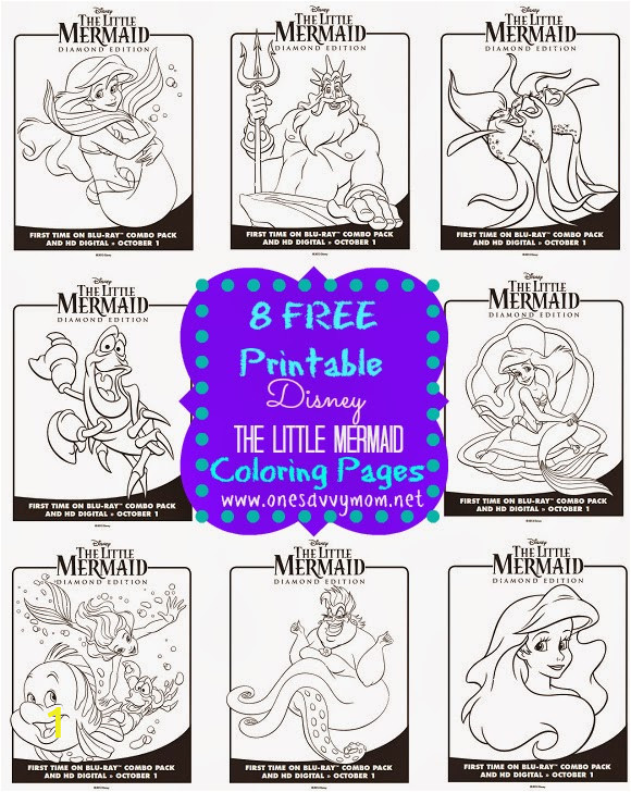Disney The Little Mermaid Free Printable Coloring Pages Sheets