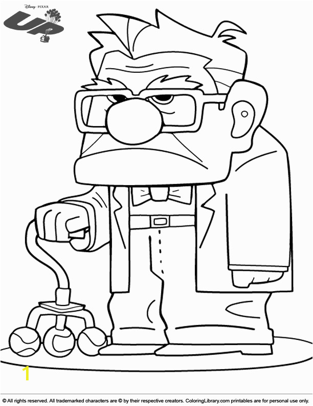Disney Movie Up Coloring Pages Grumpy Grandpa From the Movie Up Colour Sheet with Images