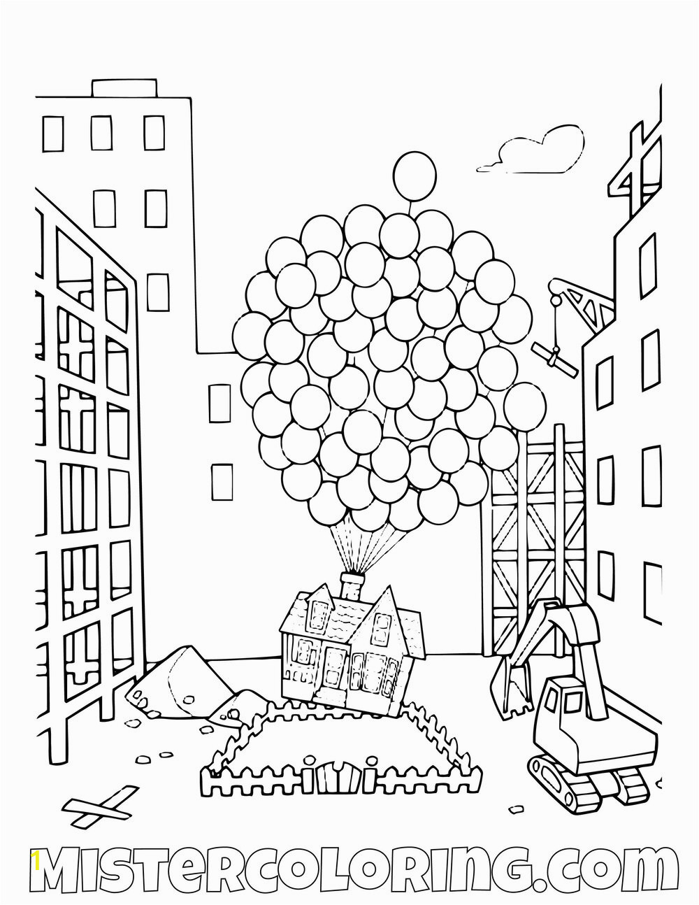 Carl House Disney Pixar Up Movie Coloring Pages For Kids