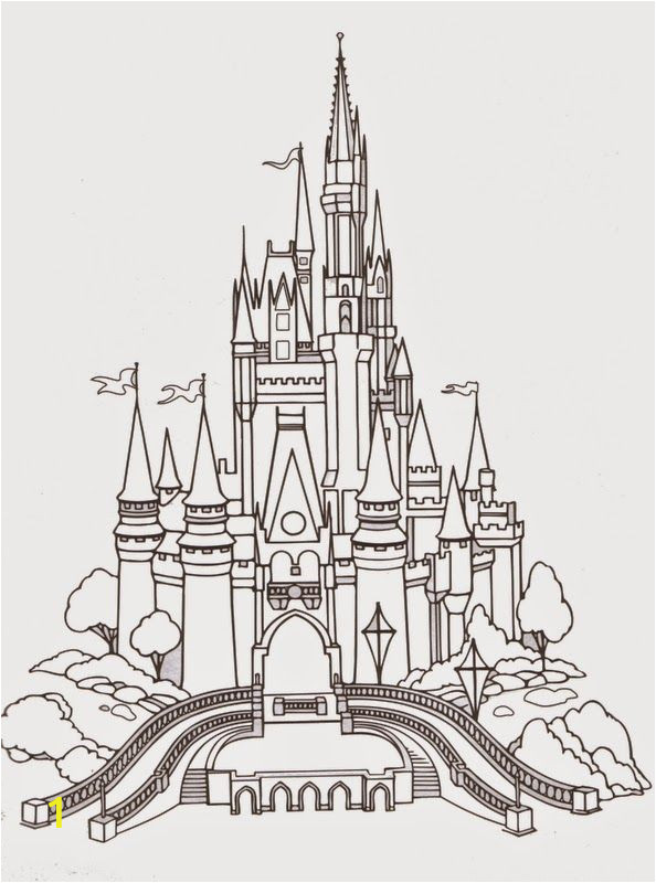 Disney World Castle Coloring Pages Disney World Castle Coloring Pages Free
