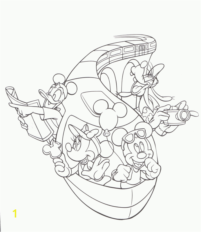 Disney World Rides Coloring Pages Disney Cruise Coloring Pages Coloring Home