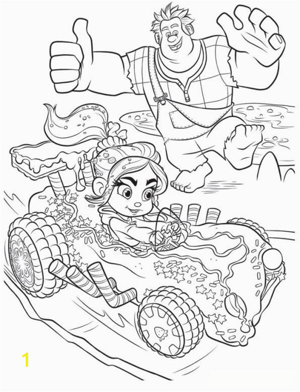 Disney Wreck It Ralph Coloring Pages Coloring Page Wreck It Ralph Ralph Vanellope