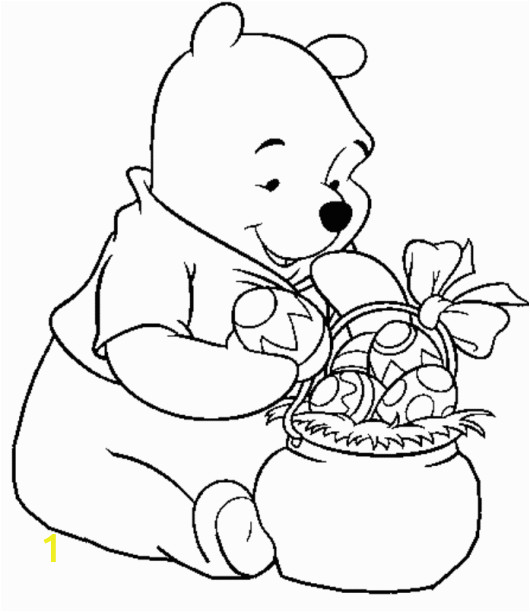 Easter Coloring Pages Disney Characters Pooh Easter Eggs Disney Coloring Pages