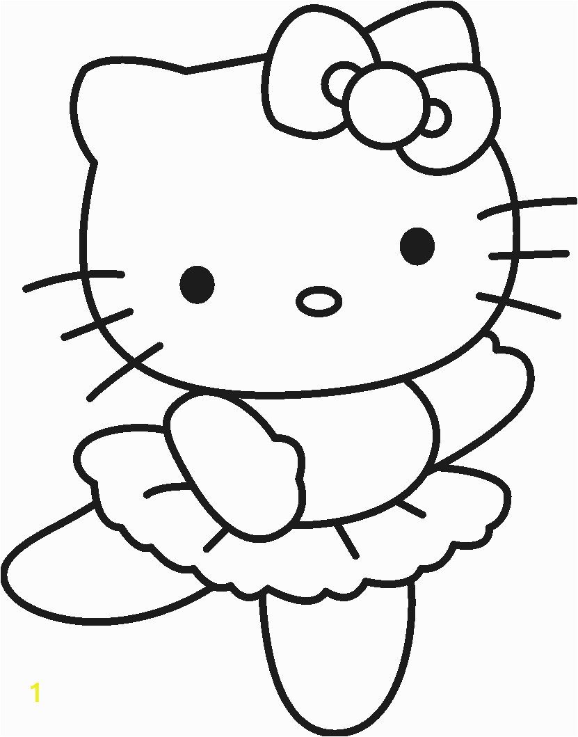 Easy Hello Kitty Coloring Pages Free Printable Hello Kitty Coloring Pages for Kids