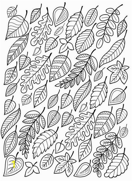 Fall Leaves Coloring Pages Printable Falling Leaves Coloring Page • Free Printable Ebook Adult