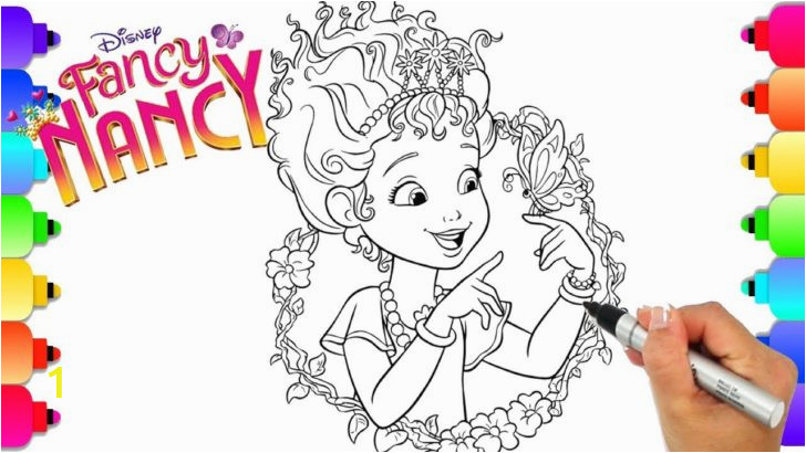 learn how to draw fancy nancy from disneys hit show coloring book maxresdefault for kids games 728x410