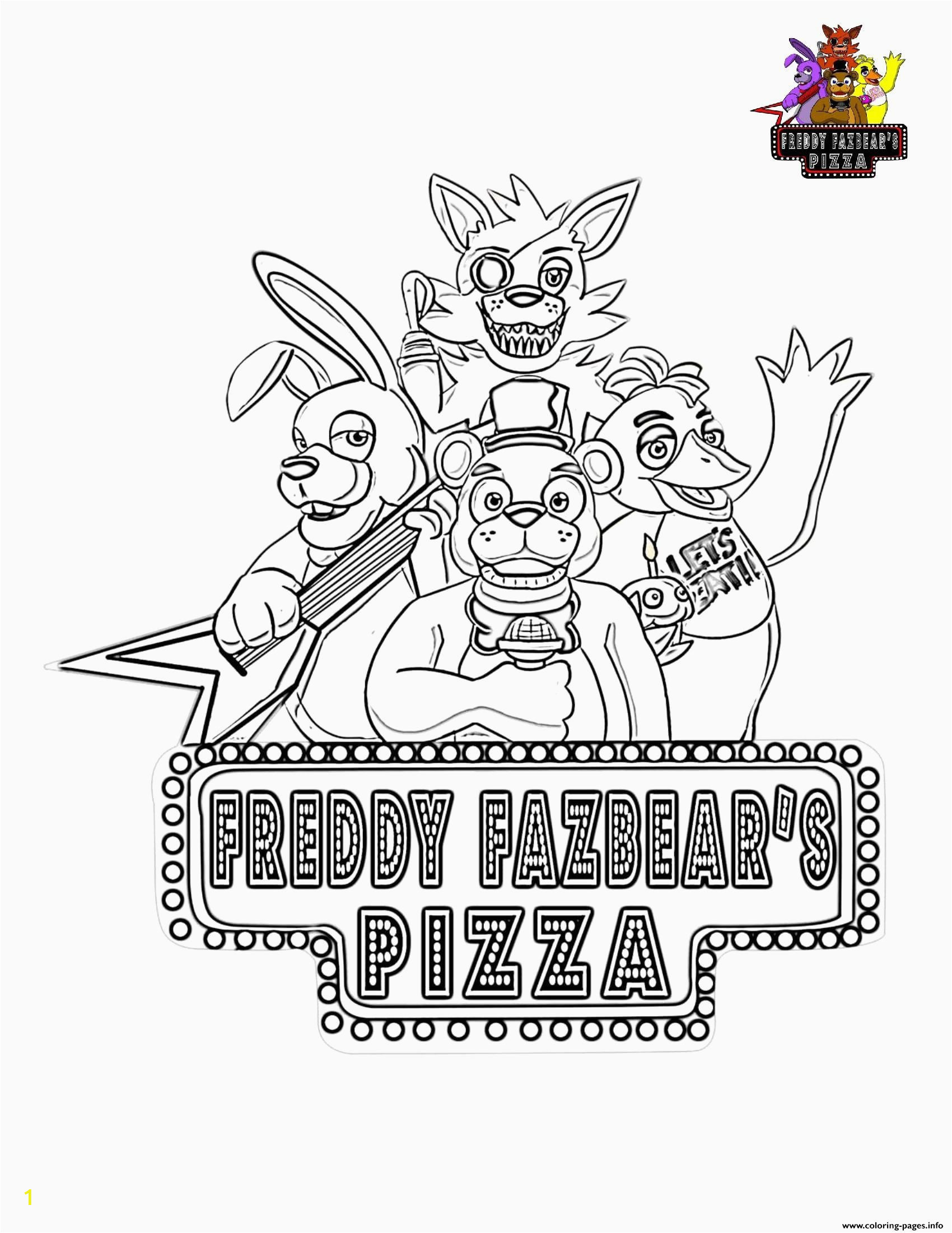 Five Nights at Freddy S Coloring Pages Coloring for Little Kids In 2020