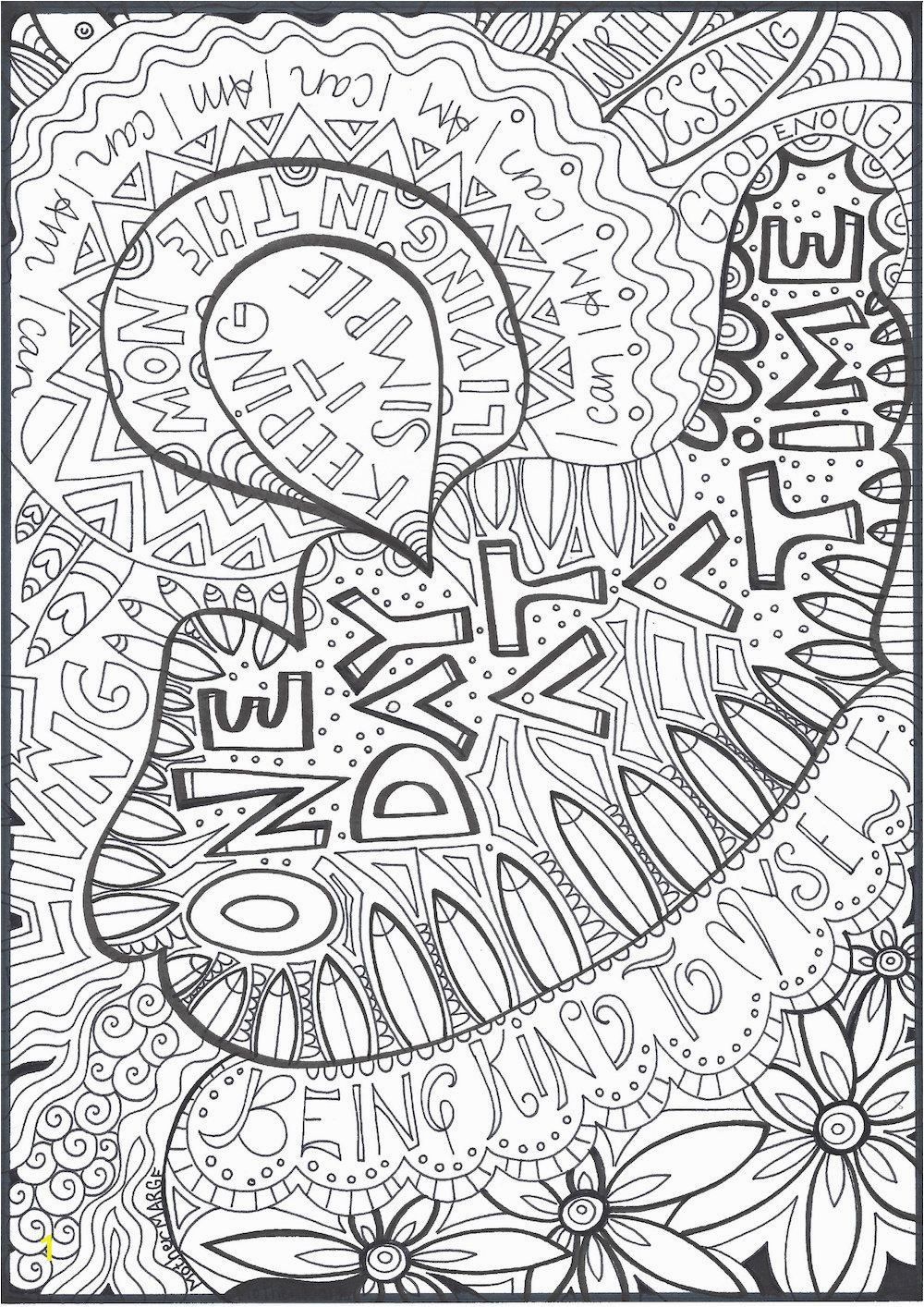 Free Printable Coloring Pages for Adults Only Quotes E Day at A Time Coloring Page Adult by