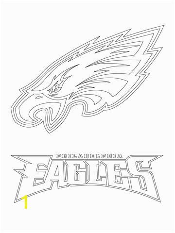 philadelphia eagles logo coloring page