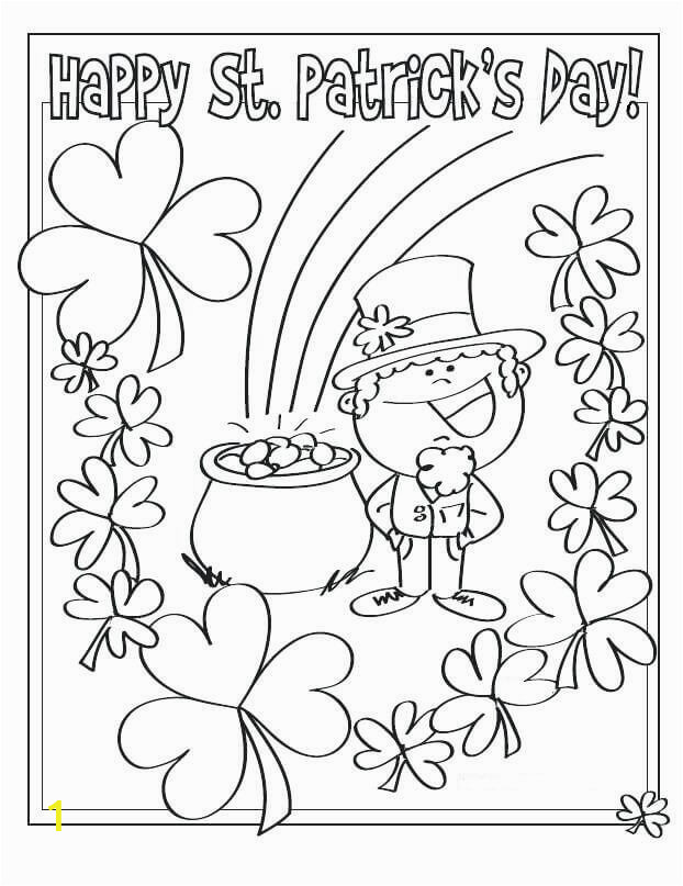 Happy St Patricks Day Coloring Pages Free Printable