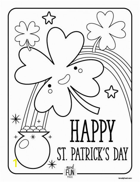 Free Printable St Patrick S Day Coloring Pages Pin by Elizabeth Wright On St Patrick S Day In 2020 with