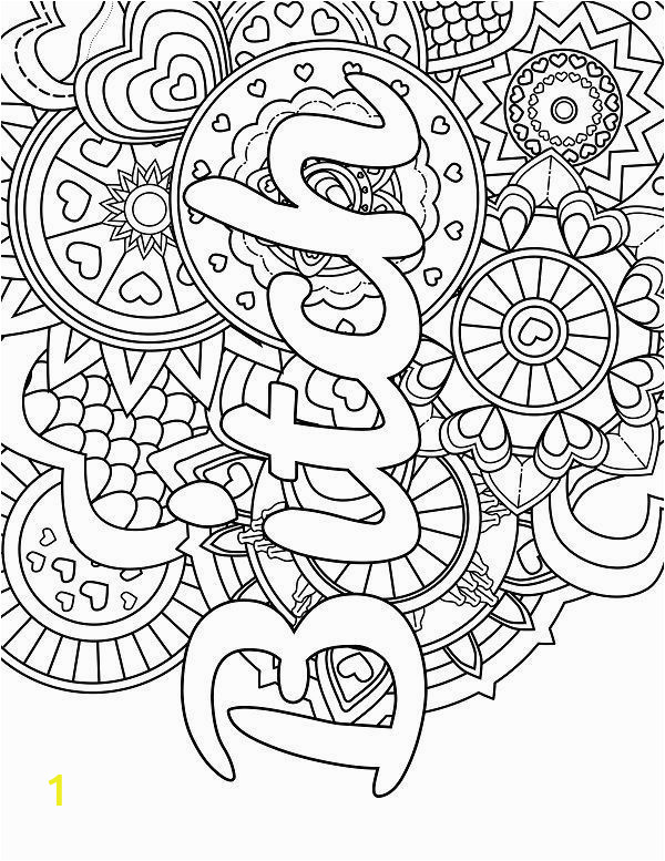 Free Printable Word Coloring Pages Mandala Adult Coloring Page Swear 14 Free Printable