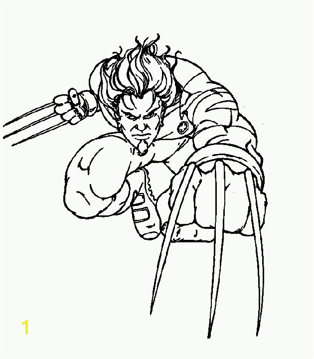 animated coloring pages x men image 0016