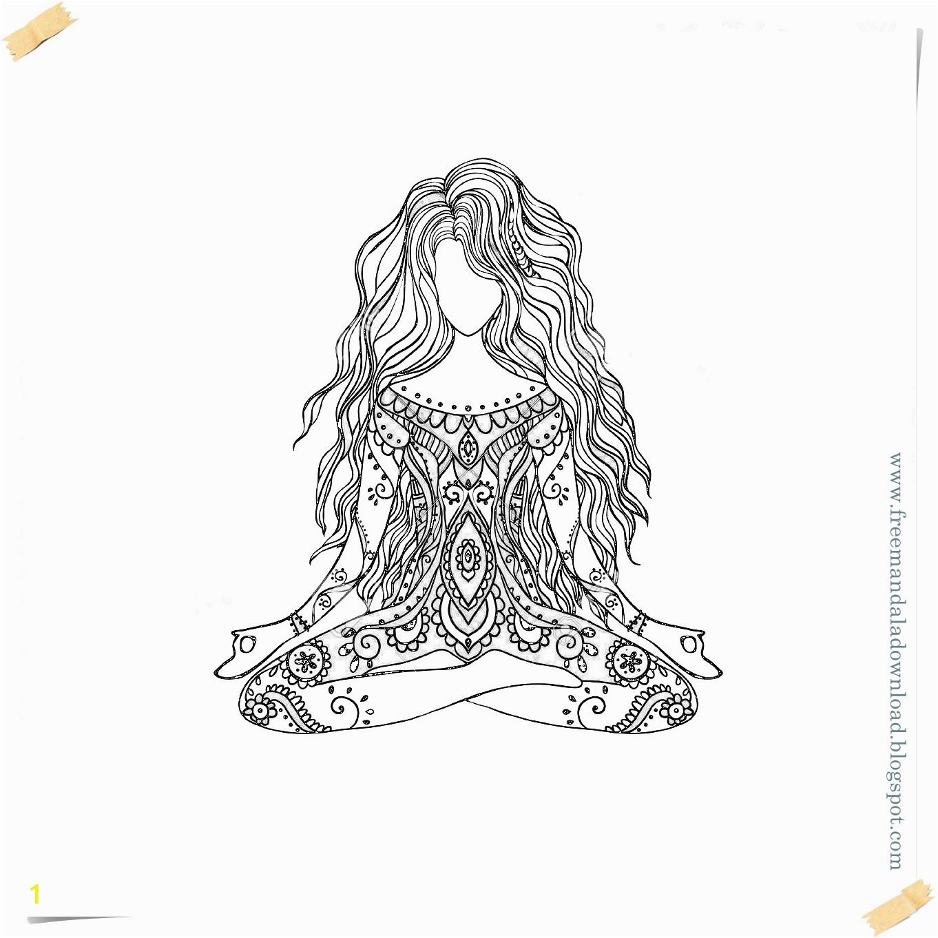 Vector yoga mandala 3