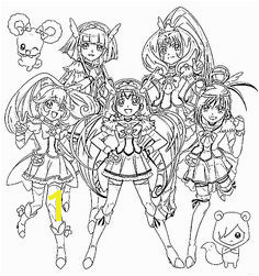 Glitter force Coloring Pages Printable 8 Best Glitter force Images