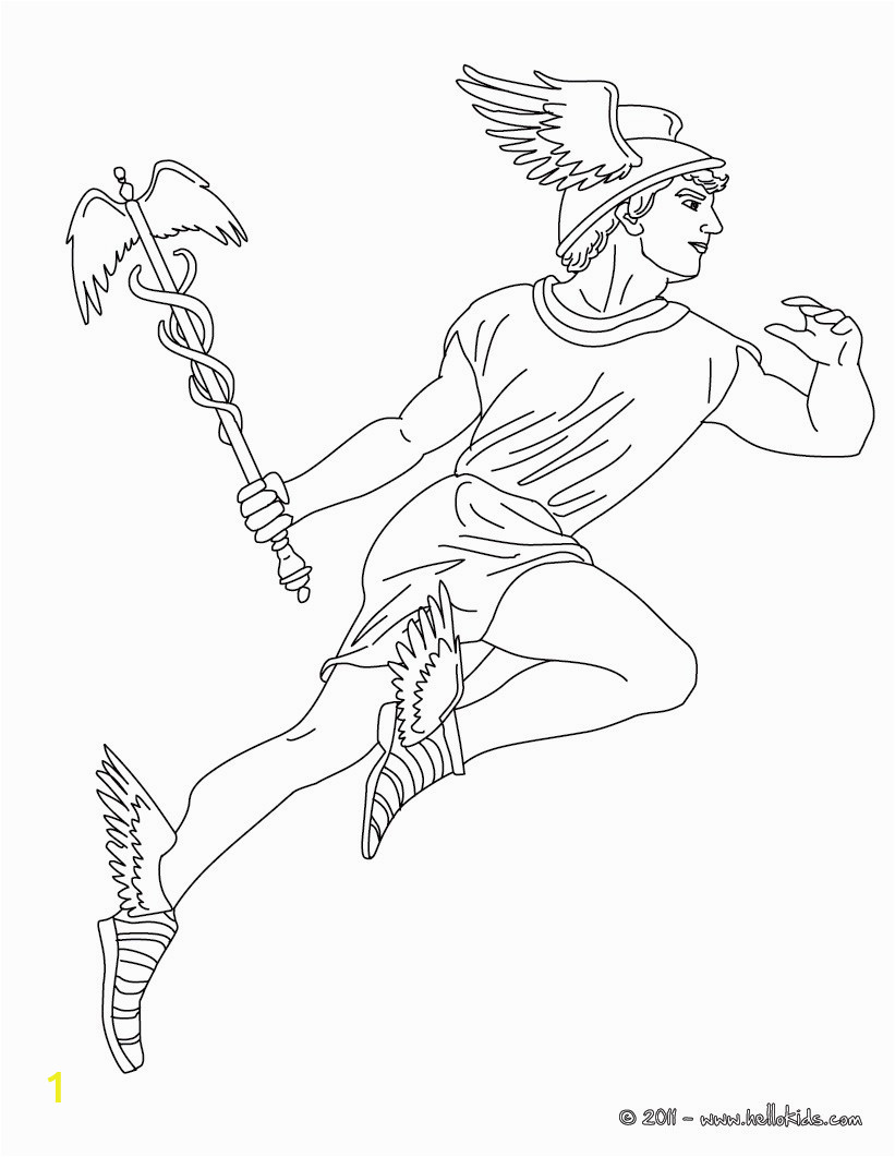28 hermes greek gofd of herds coloring page ywv source