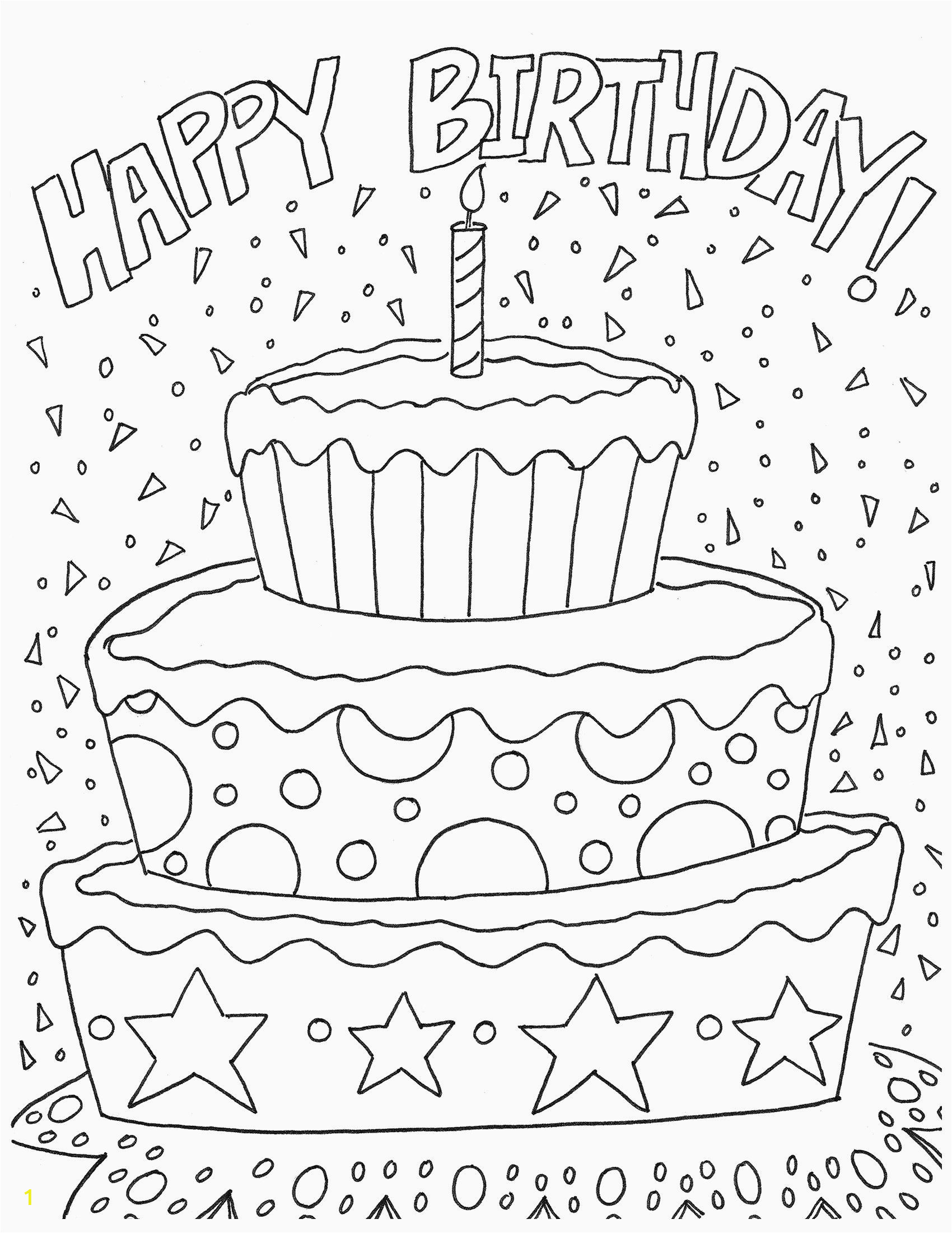 Happy Birthday Coloring Pages Printable 28 Happy Birthday Coloring Page In 2020 with Images