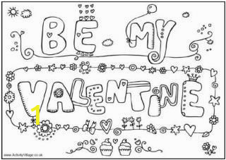 Happy Valentine S Day Printable Coloring Pages Valentine S Day Colouring Pages