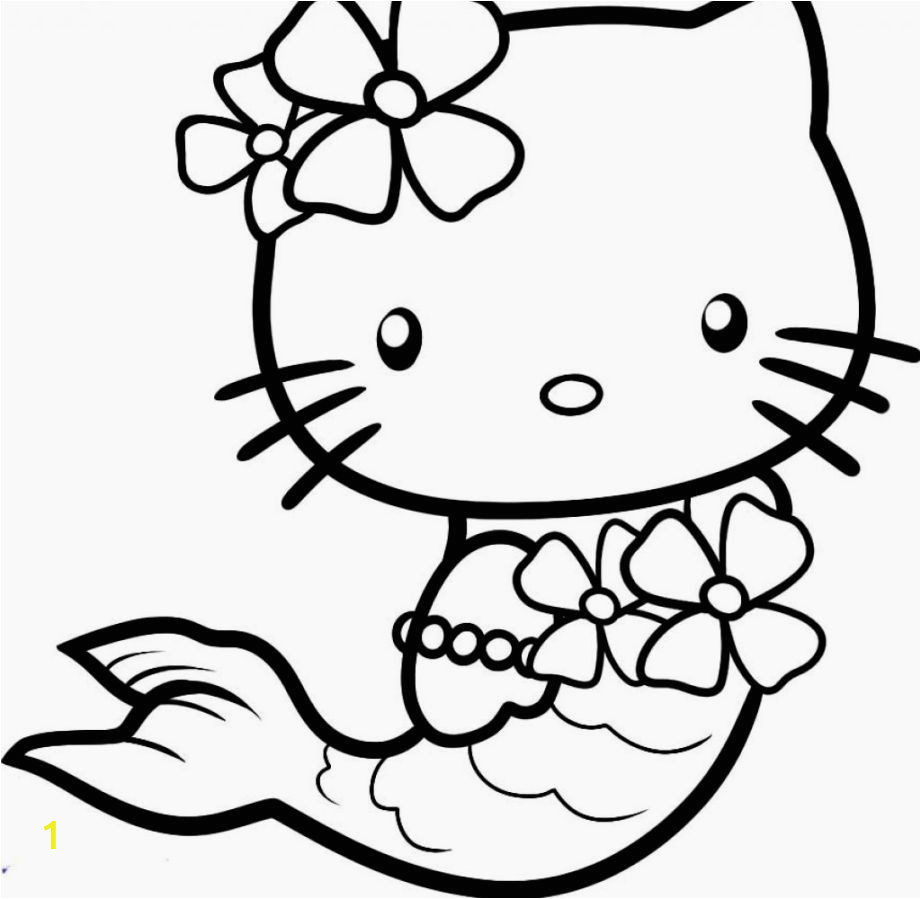 Hawaiian Hello Kitty Coloring Pages Hello Kitty Mermaid Coloring Pages
