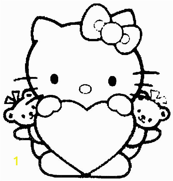 Hello Kitty and Mimmy Coloring Pages 100 Pictures Of Hearts Avec Images