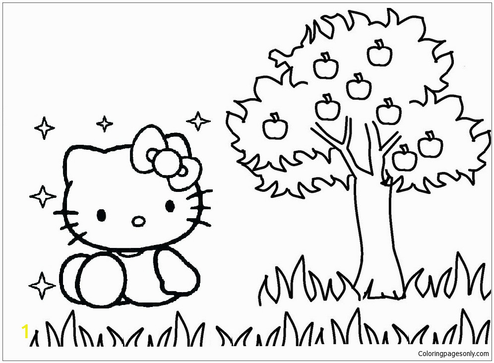 hello kitty with apple tree00