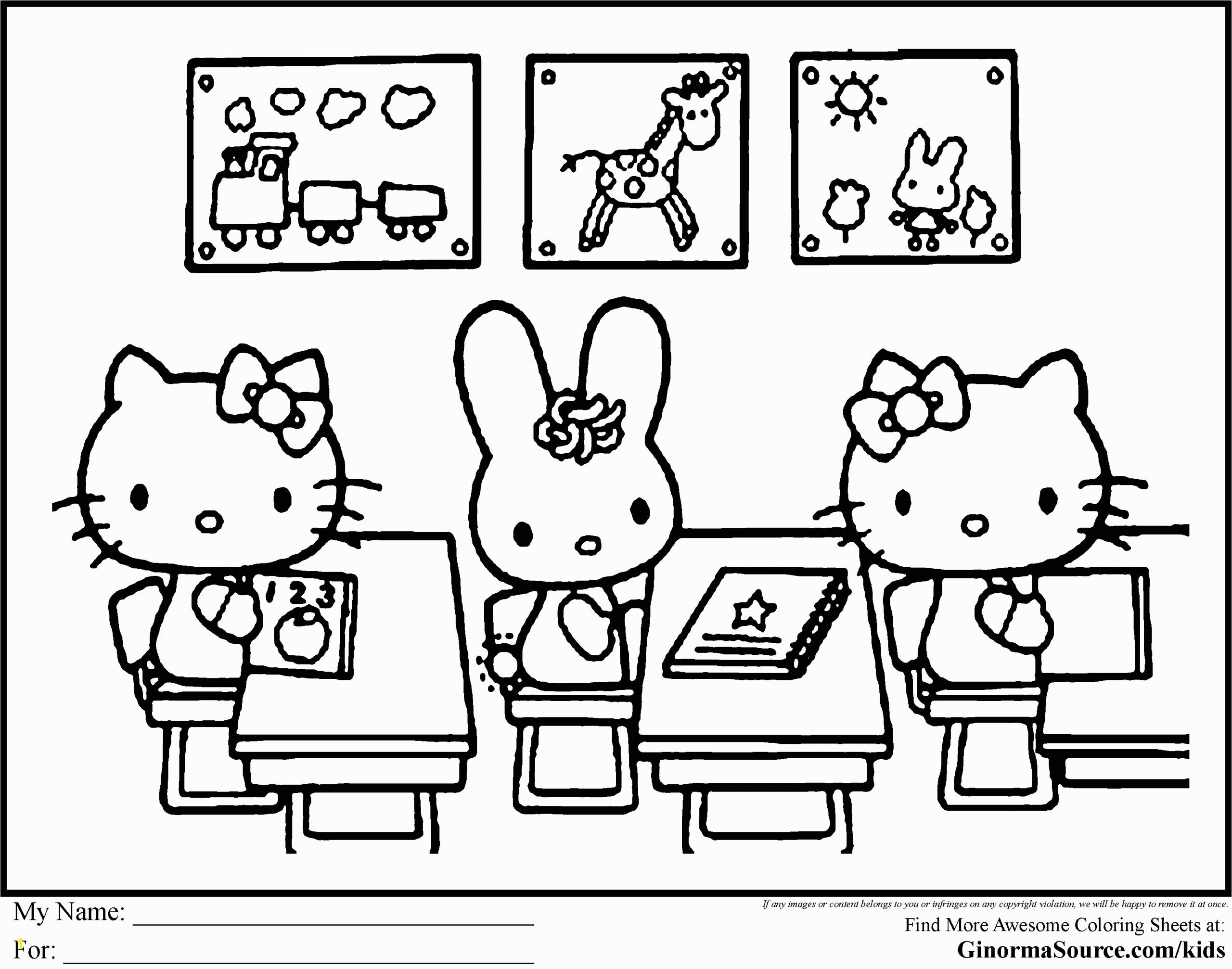 hello kitty coloring pages images 4