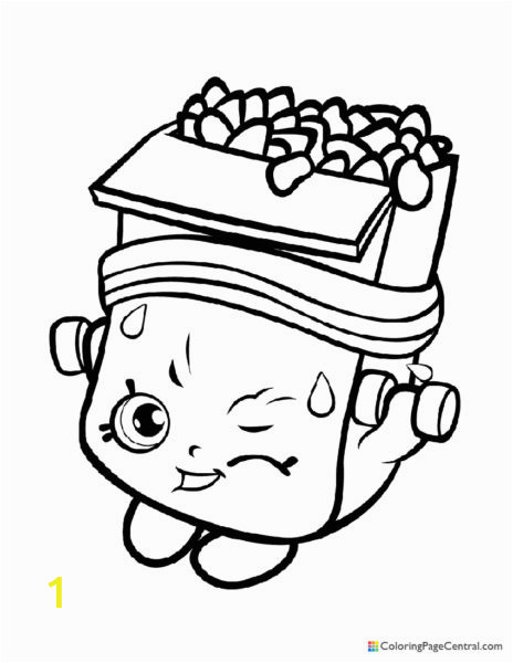 Shopkin Breaky Crunch Coloring Page 464x600