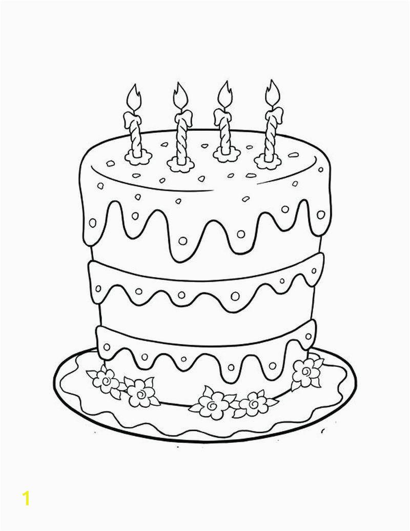 Hello Kitty Birthday Cake Coloring Pages | divyajanani.org