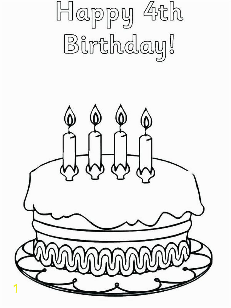 Hello Kitty Birthday Cake Coloring Pages Printable Birthday Cake Coloring Pages for Kids Free