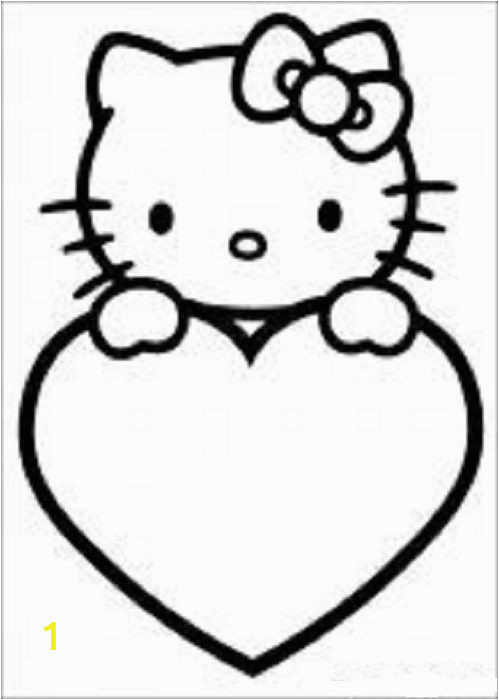 Hello Kitty Birthday Coloring Pages Free to Print Hello Kitty Coloring Pages 8 with Images