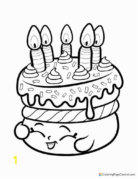 Shopkin Cake Wishes Coloring Page 464x600