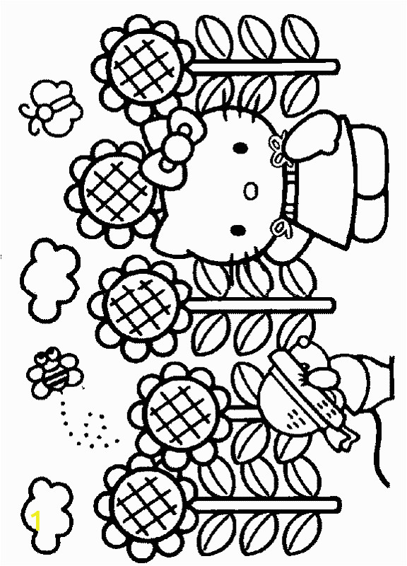 Hello Kitty Coloring Pages Games Online Hello Kitty Spring Coloring Pages with Images