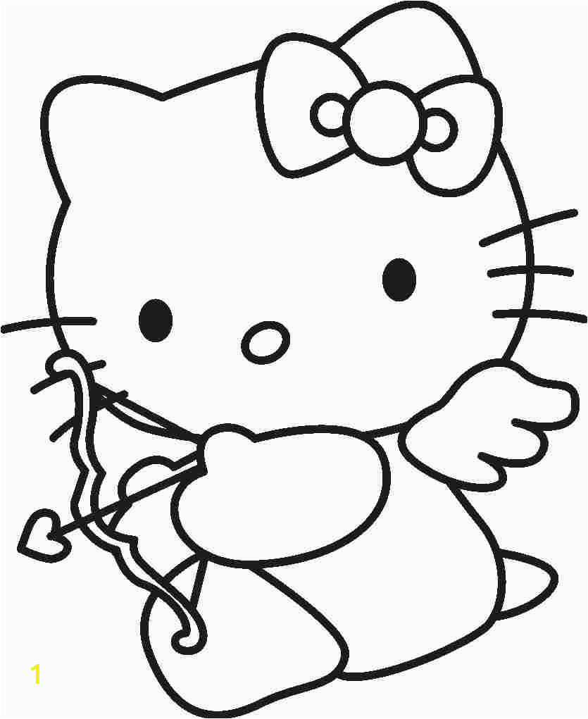 Hello Kitty Coloring Pages Mushrooms Hello Kitty Cupid with Images