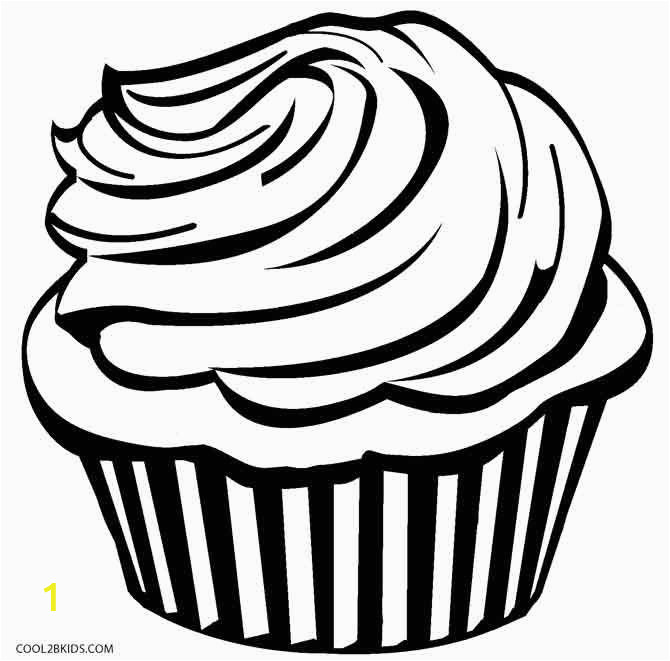 Hello Kitty Cupcake Coloring Pages Cupcake Coloring Pages