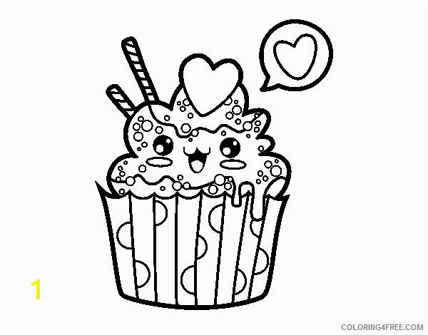 kawaii cupcake coloring pages Coloring4free