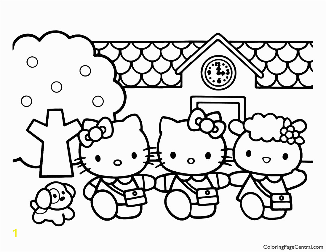 full sanrio pig coloring hello kitty coloring page 03 coloring page central