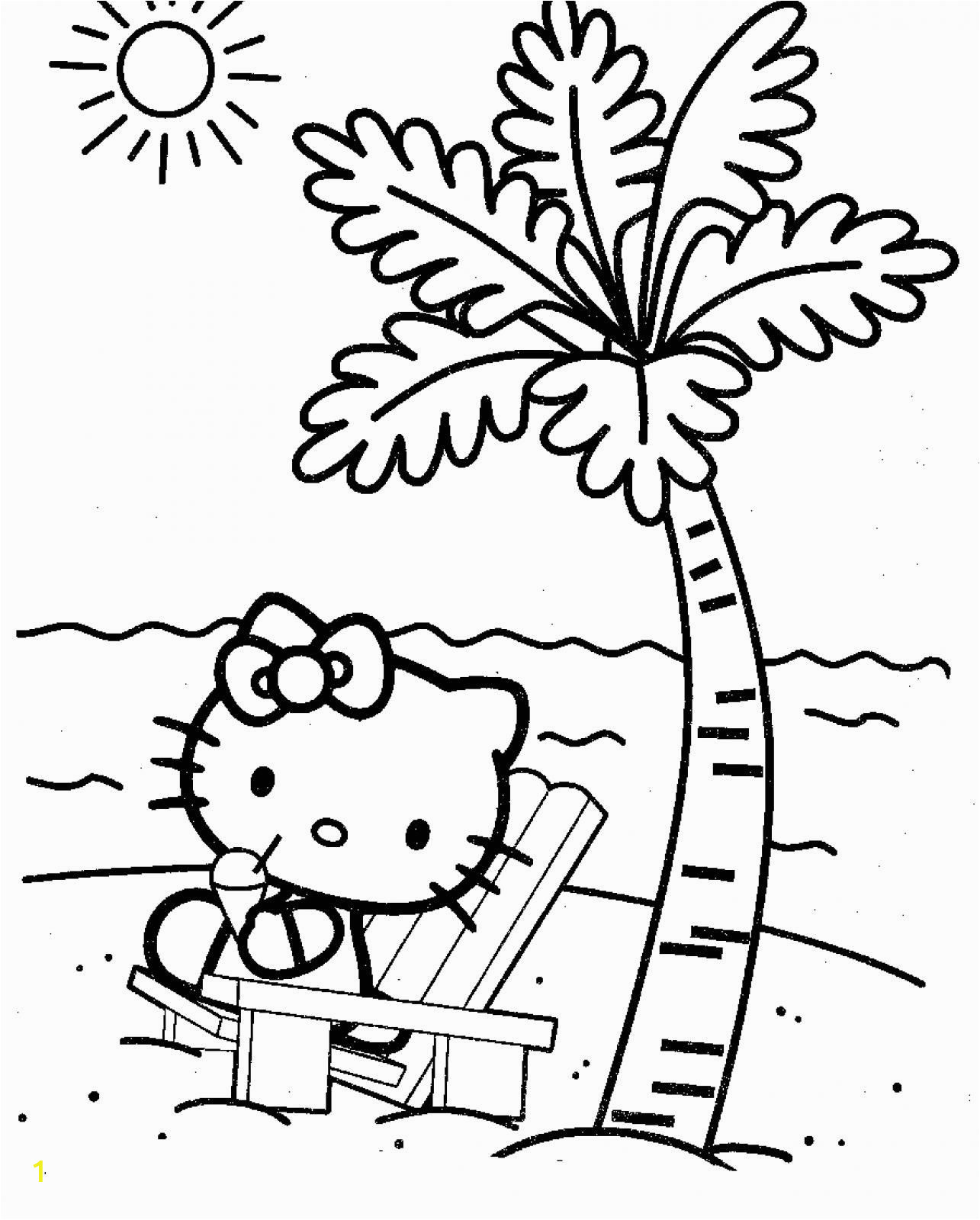 Hello Kitty Hawaii Coloring Pages top 75 Free Printable Hello Kitty Coloring Pages Line